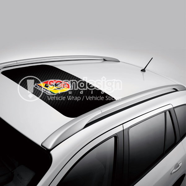Abarth D-D-P Oto Çatı Decal Sticker Tek yönlü vizyon sticker